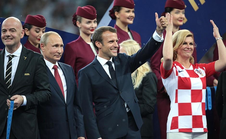 Grabar-Kitarović, prezydent Chorwacji, podczas mundialu w Rosji.