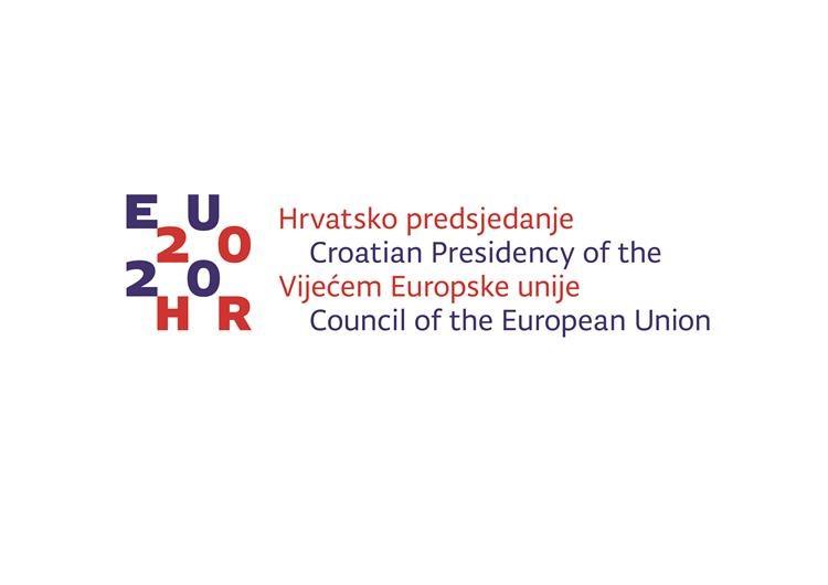 Logo przewodnictwa Chorwacji w Radze UE.