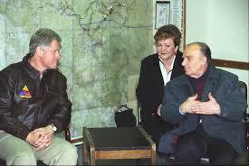 Prezydent Clinton z bośniackim przywódca Aliją Izetbegoviciem